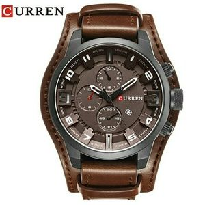 Brand new Men's Sports Waterproof Leather Strap  W